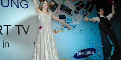 Exhibition Magicians Samsung Smart TV Launch